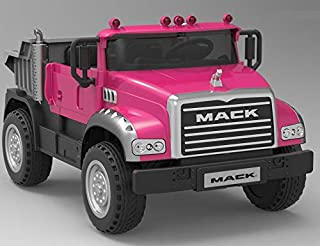 Beyond Infinity Ride On Mack Granite Dump Truck Two Seater Pink, 12V Battery Powered Wheel