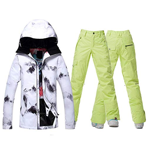 JSGJHXFGsou Snow Skipak, hoogwaardige dames-skipak, snowboardkleding, outdoor-sporten, waterdicht, winddicht, ski-jack en -broek