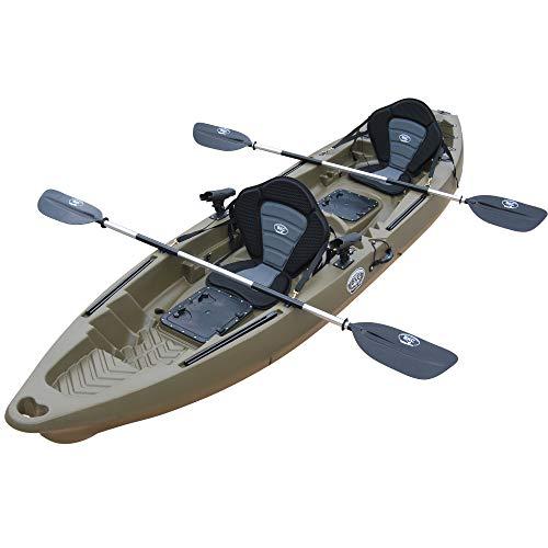 BKC TK122P 12' 6' Tandem 2 or 3 Person Sit On Top Fishing Kayak w/Premium Memory...