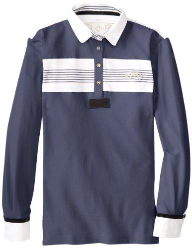 Equine Couture Damen Brentwood Long Sleeve Polo, Damen, Ec Marine, Small