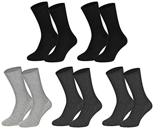 10 Paar Gesundheitssocken Baumwolle ohne Gummidruck für Damen und Herren, Farbe:Farbig sortiert