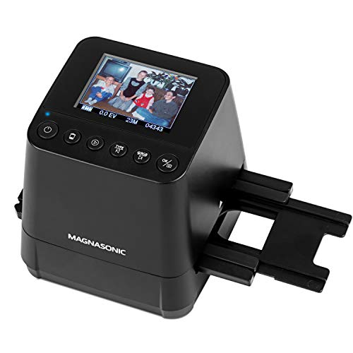 "Magnasonic All-In-One Slide & Film Scanner, High Resolution 23MP, Converts 35mm/110/126 Negatives & 135 Slides into Digital Photos, Vibrant 2.4"" LCD Screen, Built-In Memory, High Speed Scanning (FS51)"