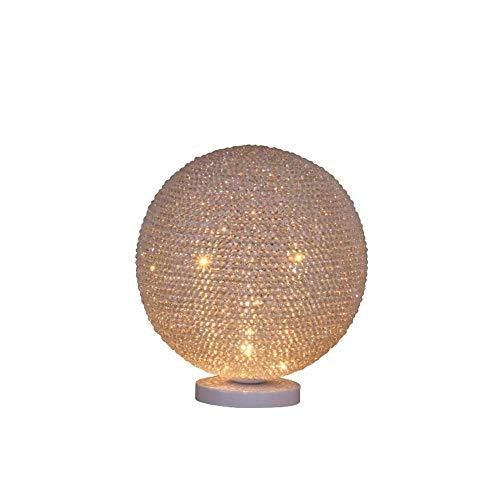 ChangHua1 Lámpara De Mesa De Decoración De Bola De Oblea De Agua Simple Americana Lámpara De Pie De Decoración De Personalidad Creativa Lámpara De Dormitorio De Estudio De Sala De Estar 22 * 26 Cm (