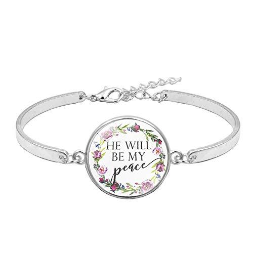 Fashion Psalm Armband Kunstdruck Glaskuppel Charms Armbänder für Frauen Bibelvers Zitat Schmuck Geschenk für Christian