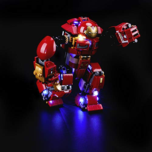 iCUANUTY Kit de Iluminación LED para Lego 76104, Kit de Luces Compatible con Lego Marvel Super Heroes Hulk (No Incluye Modelo Lego)