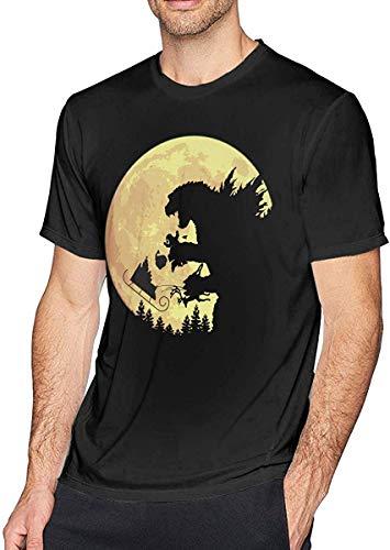 Whgdeftysd Mens Fashion Godzilla NEE! NEEM! NEEM! T-shirt met korte mouw zwart