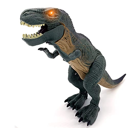 JUGUETECNIC | Dinosaurio T-Rex Interactivo | Camina y Ruge | Juguete electrónico para niños | Robot Tiranosaurio Rex