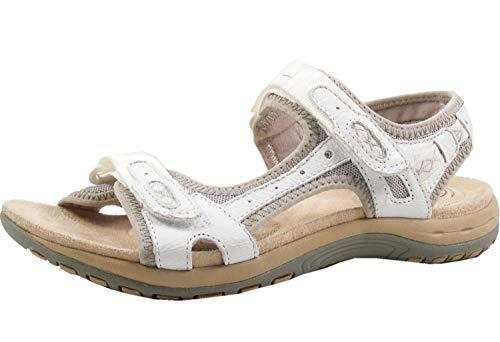 Earth Spirit 38014-20 Schuhe Damen Sandalen Trekking weiß, Größe:40.5 EU, Farbe:Weiß