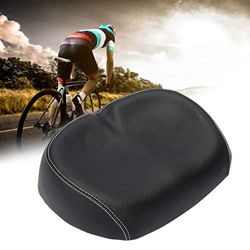 SUNERLORY Nasenloser Fahrradsattel, breiter großer, druckloser, weicher, bequemer Fahrradsitz, Ersatz-Fahrradsitz mit weichem Polstersitz für Straßen-, Berg- und Klappfahrräder