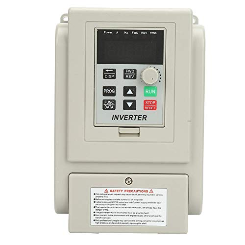 【𝐏𝐚𝐬𝐜𝐮𝐚】 Variador de frecuencia VFD, 220 VCA Variador de frecuencia Variador VFD Controlador de velocidad para motor de CA monofásico de 0,75 kW