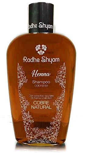 Radhe CHAMPU Henna Cobre, Negro, Estandar