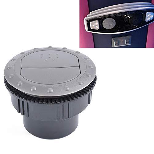 Luoshan Lin Universal 60mm Vent Ronda de CA de Salida de Aire for Las Piezas Barco y RV autobús Yate de Aire Acondicionado automático de ventilación de reemplazo Accesorios for el Coche (Negro)
