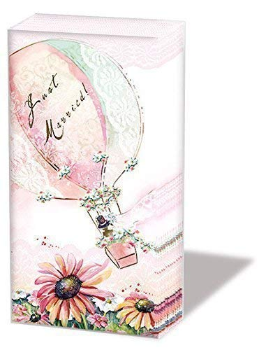 Ambiente Taschentücher Hochzeit Heißluftballon 6 x 10 Taschentücher Motiv: Happily Ever After
