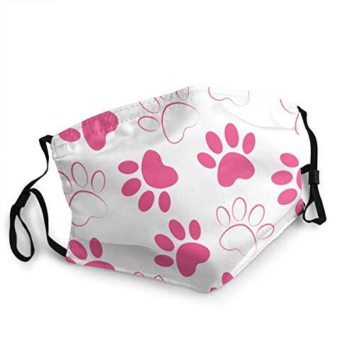 Hintergrund Silhouetten Katze Hund Footprintcrimson Tiere Custom Design Mode Mund Maske Gesichtsmaske Unisex Einstellbar Anti Staub
