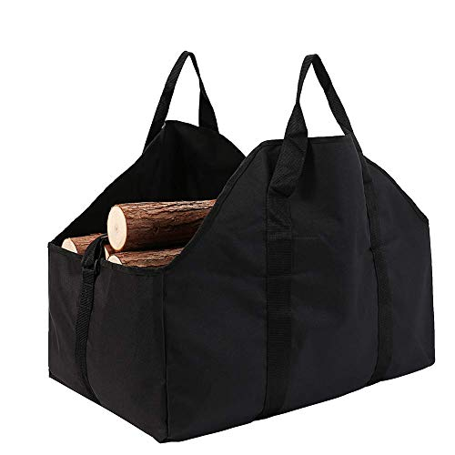 GOHHK Logs Carry Bag, Firewood Carrier Tote Bag, Wood Luggage Bag for Firewood, Shoulder Straps and Carry Handles Design,Fireplace Wood Stove Accessories