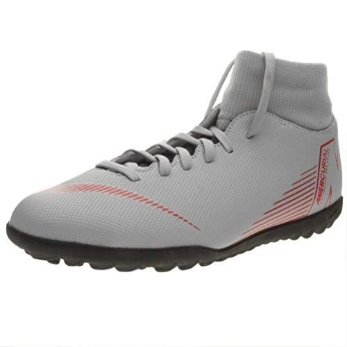 Nike Superfly 6 Club Tf, Scarpe da Fitness Unisex-Adulto, Multicolore (Wolf Grey/Lt Crimson/Black 060), 42 EU