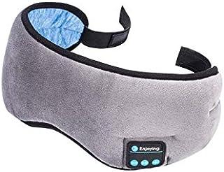 DZSF sovmask trådlös stereo bluetooth hörlurar 5,0 Bluetooth sömn mjuka hörlurar stöd handsfree sovmask