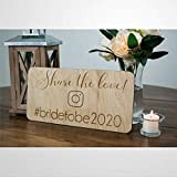 Share The Love Wedding Hashtag Sign Modern Wedding Decor Wedding Instagram Sign Rústico Decoración de Boda Madera Boda Signo Boho Boda Placa de Madera Decoración de Pared Decoración del Hogar Hm066