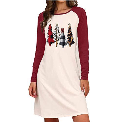 Womens Christmas Print Dress Criss Cross Christmas Shirt Holiday Shirts Letter Reindeer Print T-Shirt Tunic Tops (red,Medium)