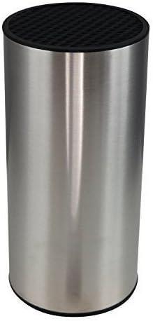 Bloque cilíndrico para cuchillos de acero inoxidable economizador de espacio (sin cuchillos) de Coninx - Para un almacenamiento seguro, limpio y organizado - Incluye 5 AÑOS DE GARANTÍA DE RECAMBIO - 1