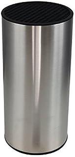 Bloque cilíndrico para cuchillos de acero inoxidable economizador de espacio (sin cuchillos) de Coninx - Para un almacenamiento seguro, limpio y organizado - Incluye 5 AÑOS DE GARANTÍA DE RECAMBIO - 11 x 11 x 23 cm - Taco de cuchillos/ Juego de cuchillos
