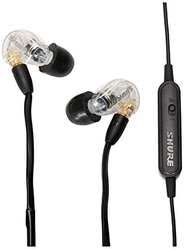 Shure SE215-CL-UNI Sound Isolating Earphones with Inline Remote & Mic for iOS/Android,Clear
