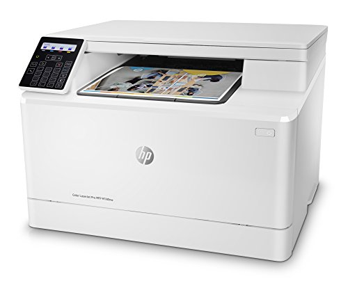 HP Color Laserjet Pro M180nw All in One Wireless Color Laser Printer, Amazon Dash Replenishment ready with Mobile Printing & Built-in Ethernet (T6B74A), White, One size