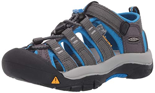KEEN Kids' Newport H2 Sandal, Magnet/Brilliant blue , 7 Youth
