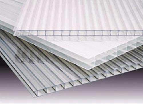 (Pack of 10 Panels) 24'' x 72'' x 8 mm (5/16) Polycarbonate Clear TWINWALL Sheets