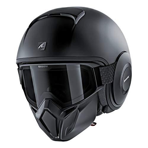 SHARK HE3306DKMAS Unisex-Adult Full Face Helmet (Matte Black, S - 55-56 cm - 21.7-22