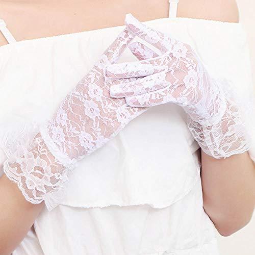 Gants de modèle de midsection de dentelle mariée gants de mariage