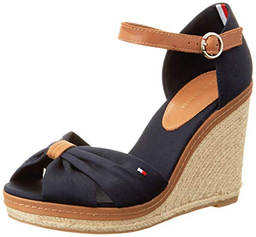 Tommy Hilfiger Iconic Elena sandalen voor dames, wighak