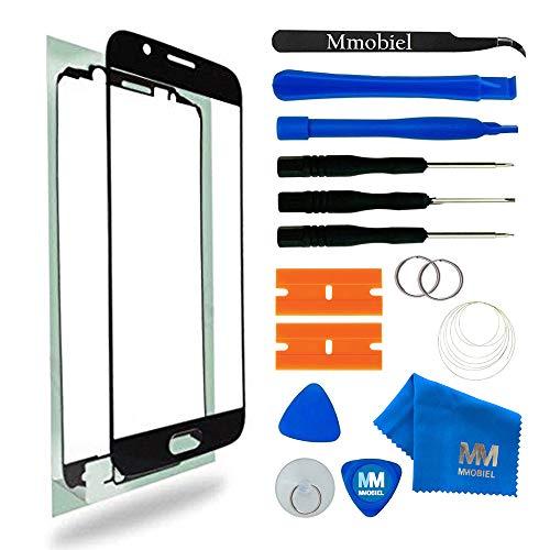MMOBIEL Front Glas Reparatur Set kompatibel mit Samsung Galaxy S6 G920 Series (Schwarz) Display mit Werkzeug-Set