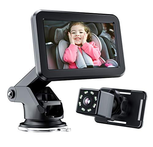 4.3 ``HD 디스플레이 야간 투시경 넓은 뷰 안정적인 빨판 브래킷 신생아가있는 모든 가족에게 적합한 카메라가있는 카메라가있는 아기 카운터 - 아기 카메라