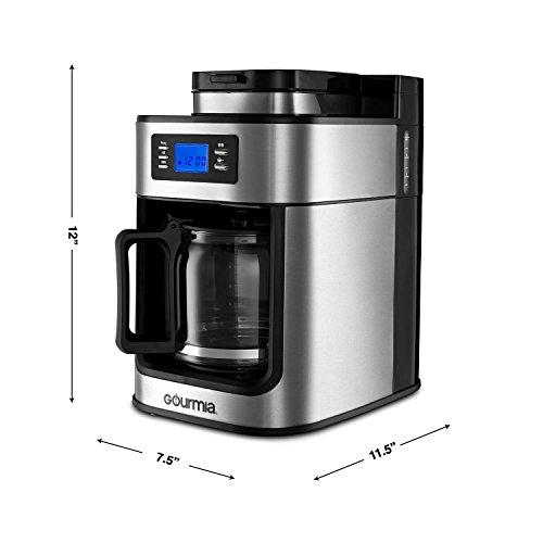 Cafetière WIFI Gourmia avec Moulin Intégré - Capacité de 10 Tasses - Compatible avec Alexa et Google - Modèle GCMW4750 - 6