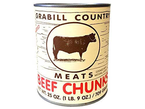 Grabill Country Meats Canned Beef Chunks, Favorite Amish Food, 25 Oz. (Pack of 3)