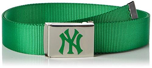 MSTRDS MLB Premium Woven Belt Single Ceinture, Vert (Kelly 3365), Taille Unique Homme