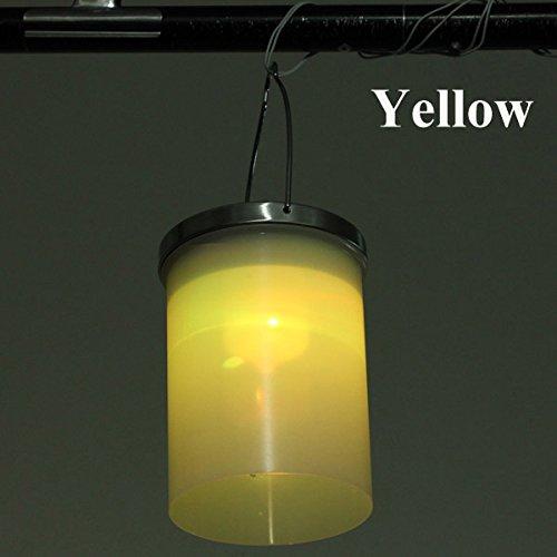 Bluelover Énergie Solaire Gaden Suspension Lanterne Lumière Lampe De LED pour Le Cylindre Extérieur Pelouse-Jaune