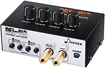 Donner DEL-8i2 4-Channel Stereo Line Mixer