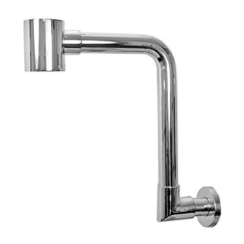 NEG Design Raumspar-Siphon NX62R (rund) Ablauf für Waschbecken/Waschschalen (mit Geruchsverschluss und praktischer Reinigungsöffnung)