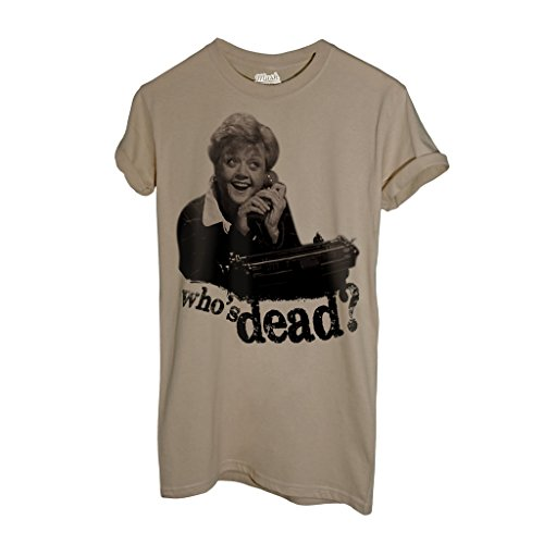 MUSH T-Shirt Signora Fletcher Telefono. Who IS Dead - Film by Dress Your Style - Uomo-XXL-Sand