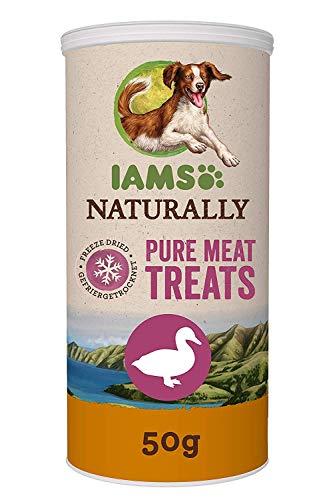 Iams gefriergetrocknete Hundesnacks aus 100% Ente, getreidefrei, 2er Pack (2 x 50 g)