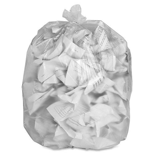 British Made Heavy Duty Refuse Sacks, Clear 60 Litres - 50-Piece - Uk Store Brand (1)