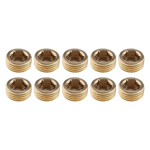 10 x Filettatura esterna interna testa esagonale 1/2 pollici adattatore raccordo in ottone per condotta acqua solare tubo pneumatico oro