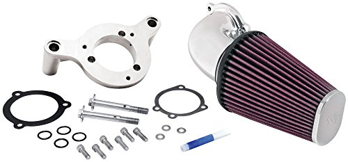 57–1125P K & N Performance Air Ansaugsystem passt fipk; Harley Davidson Softail/Dyna FI, 01–14, Bright (Lufteinlass Kits)