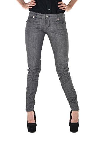 DSQUARED2 Super Slim Jean pour femme Gris Logo DDC 5 poches coton boutons - Gris - 36