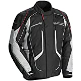 Tourmaster Advanced Men's Textile Motorcycle Jacket (Black/Grey, XX-Large)