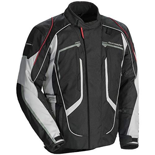 Tourmaster Advanced Men's Textile Motorcycle Jacket (Black/Grey)