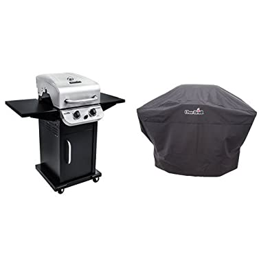 Char-Broil Performance 300 2-Burner Cabinet Gas Grill- Stainless with Performance Grill Cover