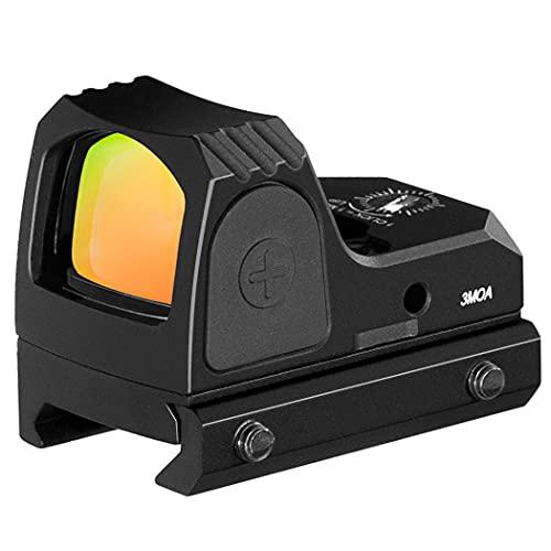 3 MOA Red Dot Sight, Multi Coated Scope Optic, Adjustable Brightness Reflex Sight, Hand Gun Red Dot Scope, Red Dot Optic for Pistol with Picatiinny Rail Mounts